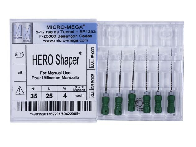 Инструменты HERO Shaper Manual, № 35, L 25, 4% (6 шт.\уп.)